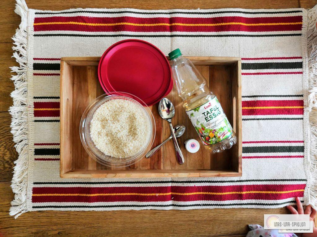 Zutaten für den bunten Reis