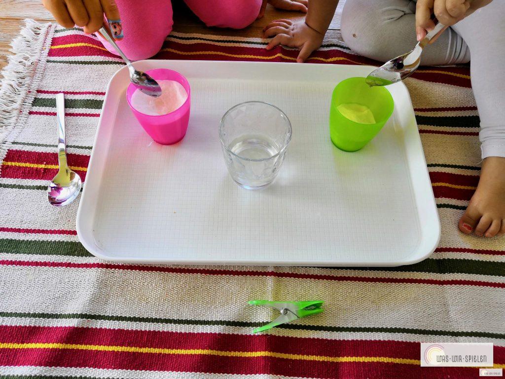 2. Wasser hinzu geben