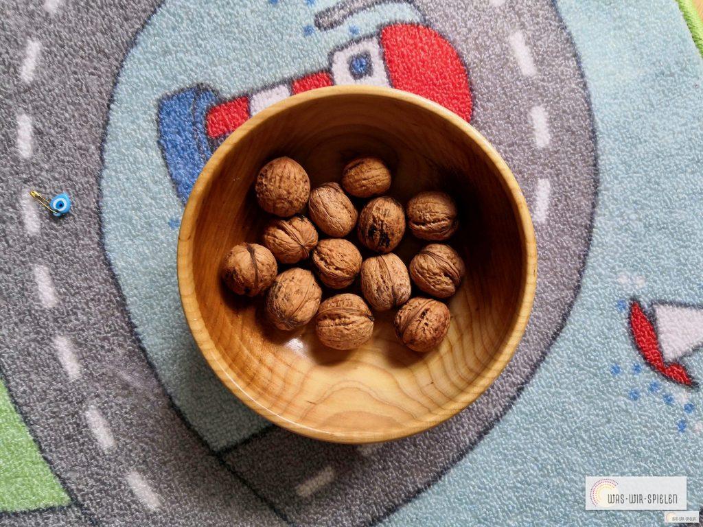 Die gefundenen Nüsse