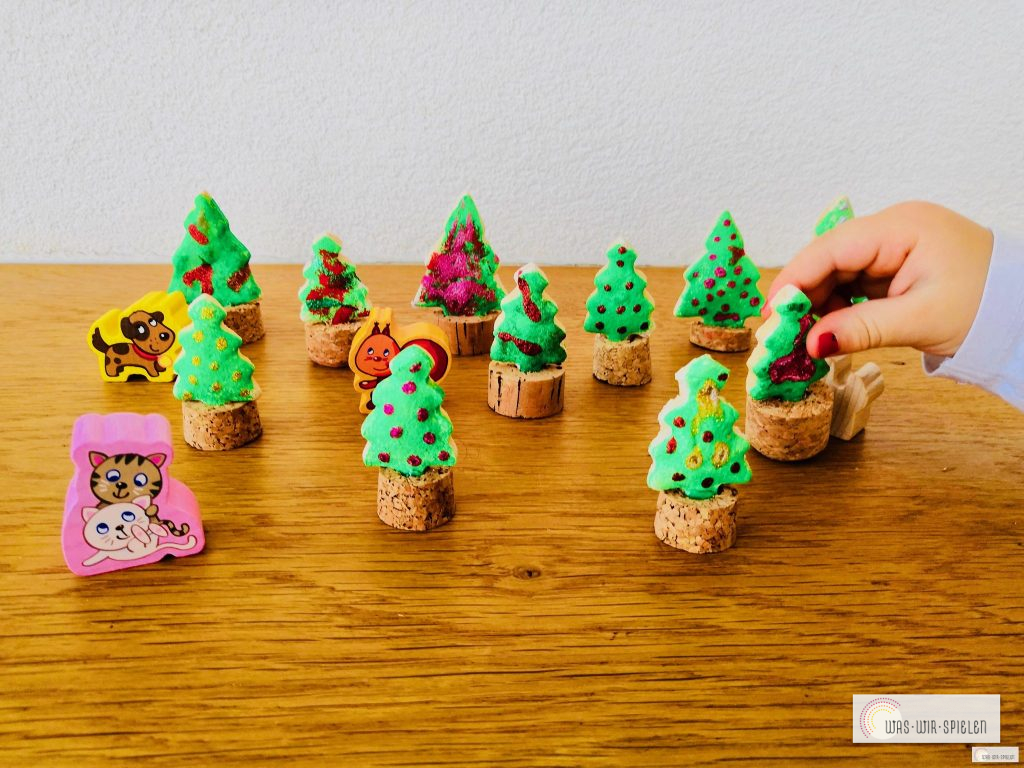 DIY Salzteig Tannenbäume, Basteln mit Kleinkinder für Weihnachen