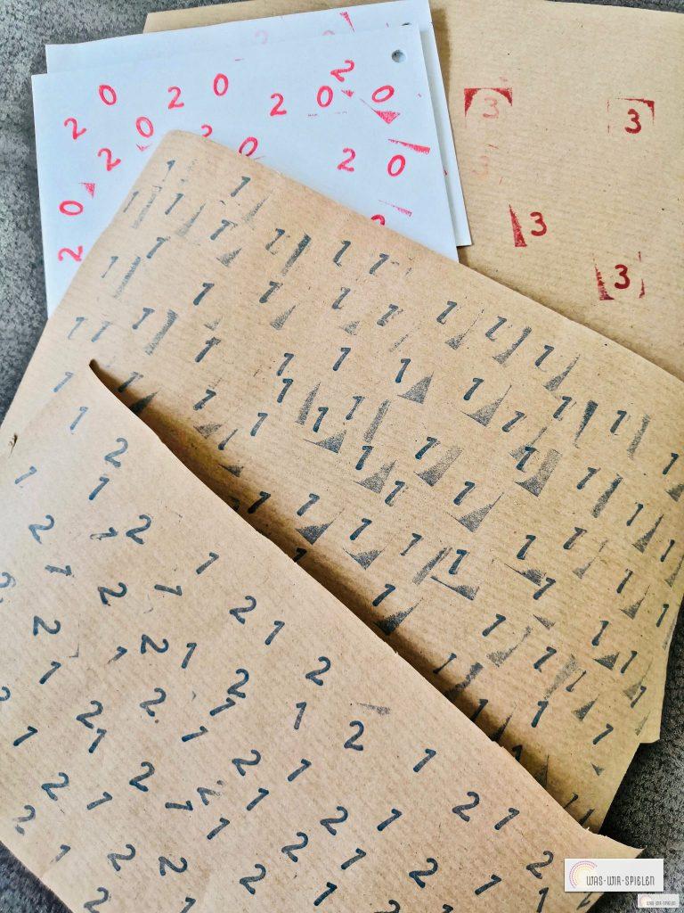 Unsere fertigen Papierbögen
