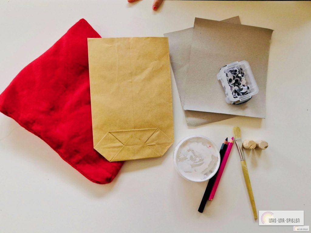 Diese Materialien verwenden wir für unsere selbstgemachten Nikolaus Säckchen