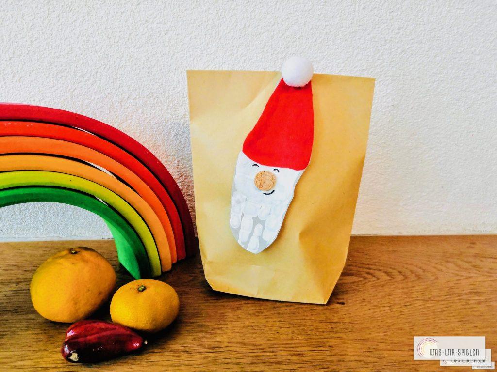 Fertig ist unser DIY Nikolaus Säckchen als nachhaltige Alternative zu gekauften Säckchen