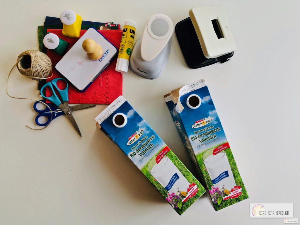 Diese Materialien benötigt man für die DIY Geschenkanhänger für Weihnachten