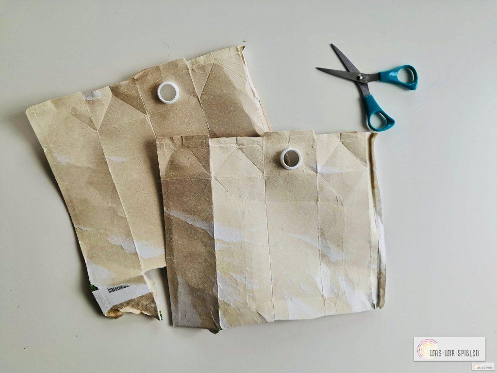 hier das fertige Arbeitsmaterial für die DIY Geschenkanhänger für Weihnachten