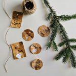 unsere selbstgemachten Geschenkanhänger aus Müll
