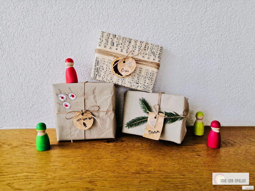 Geschenkanhänger basteln aus Tetrapack
