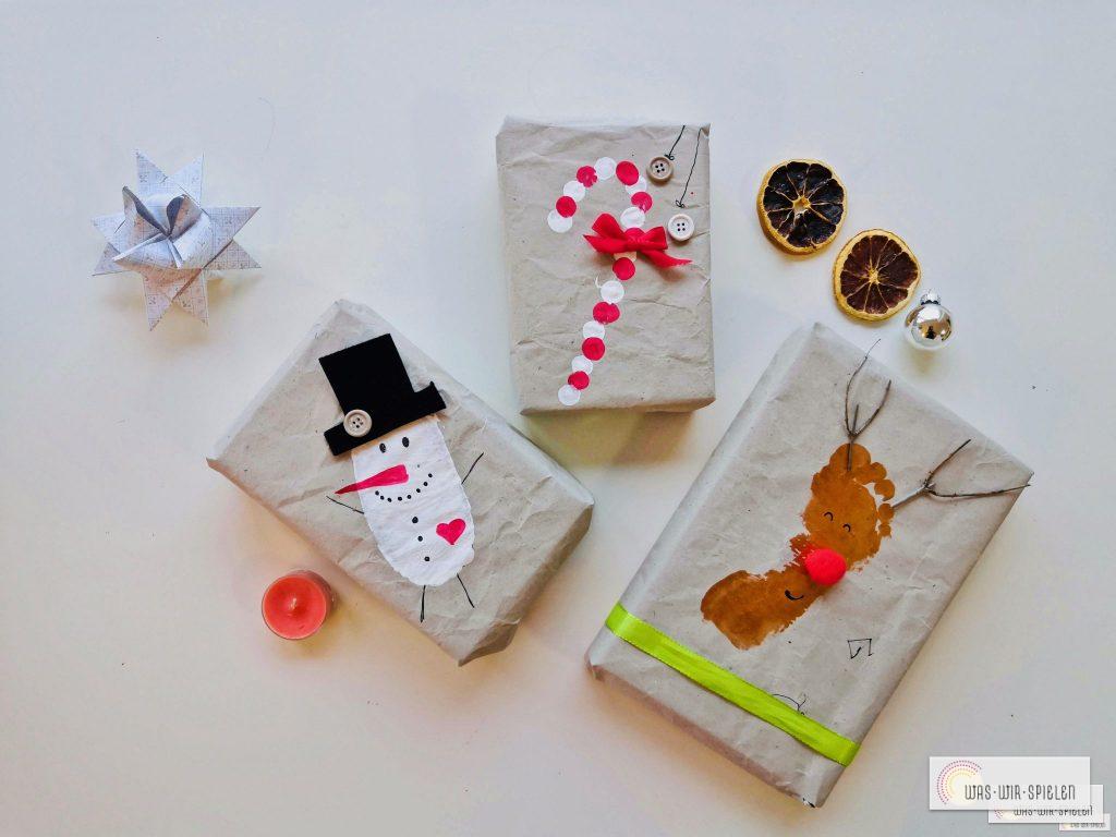 Einfach und schnell Geschenkverpackungen selber gestalten mit Kindern
