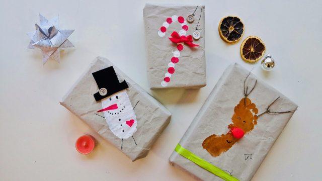 Nachhaltiges Geschenkpapier basteln mit Kindern