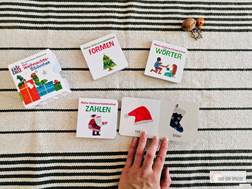 """Ein Blick ins Buch """"Meine Weihnachtsbibliothek"""" für Kleinkinder"""