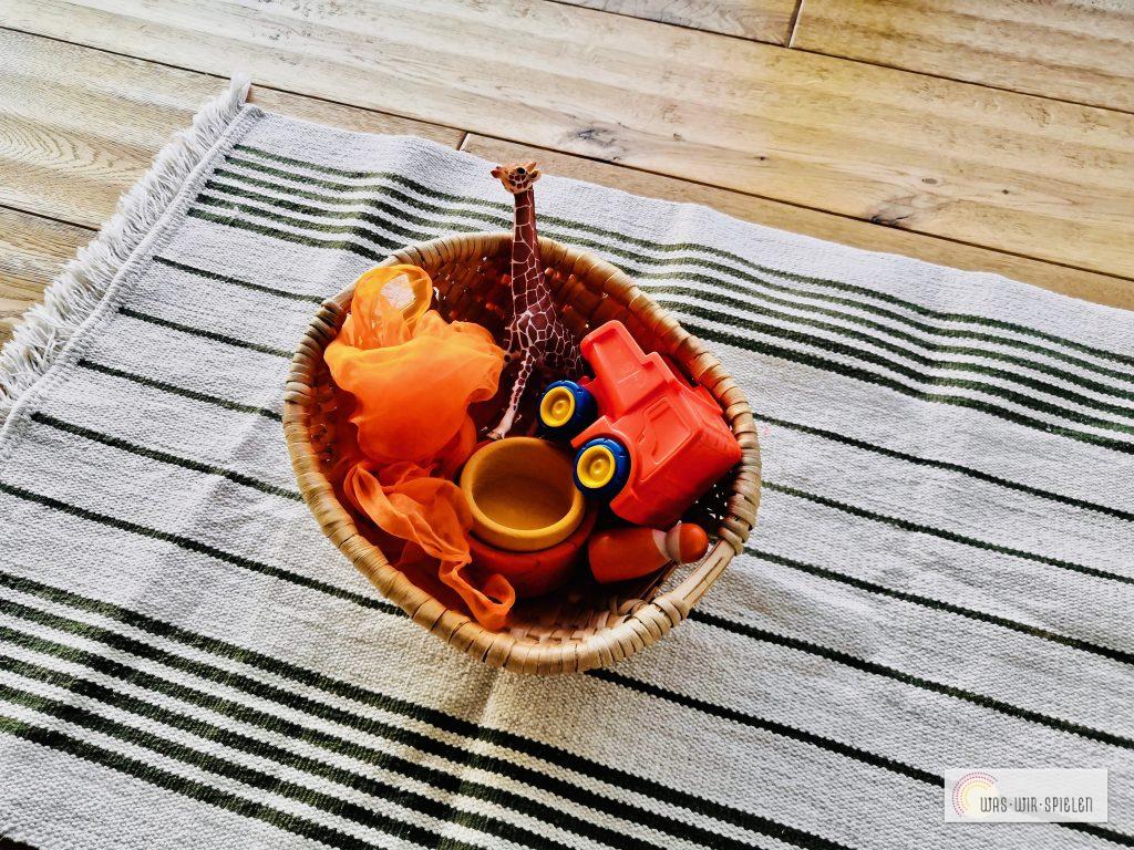 Entdeckerkörbchen zur Farbe Orange