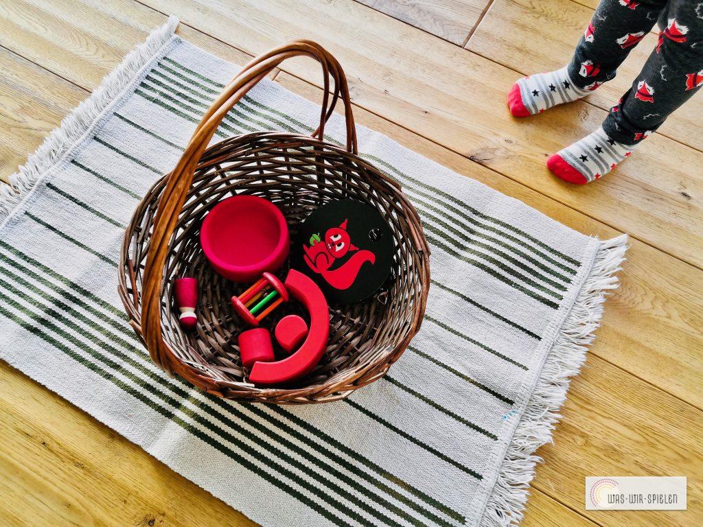 Entdeckerkörbchen zur Farbe rot