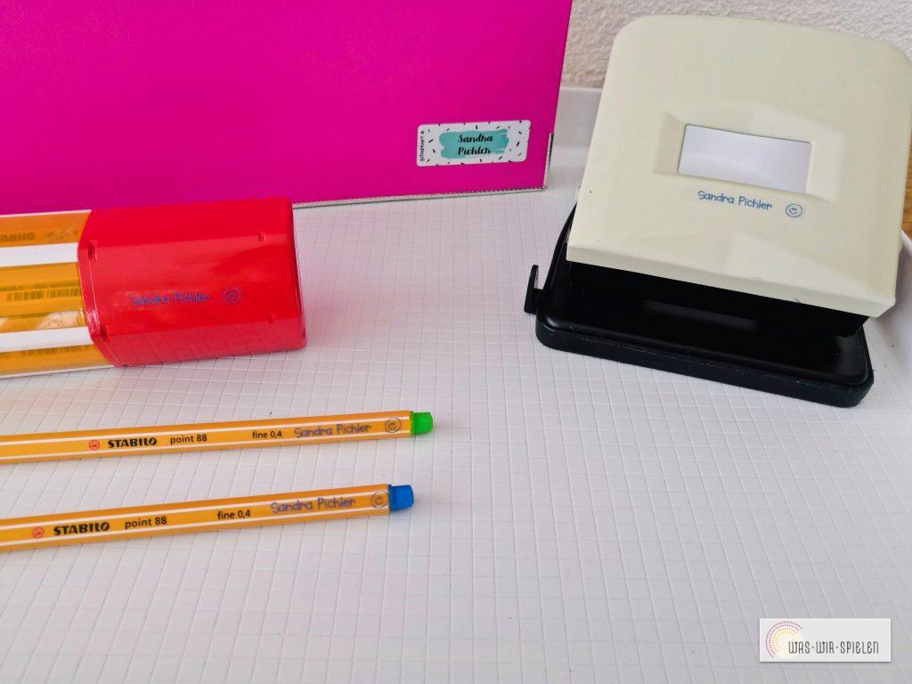 mit diesen Mini Aufklebern gehen keine Stifte mehr verloren