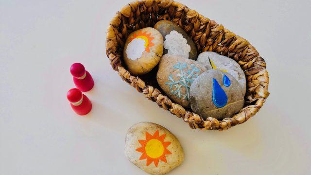 Spielen & Lernen rund ums Wetter – DIY Wettersteine