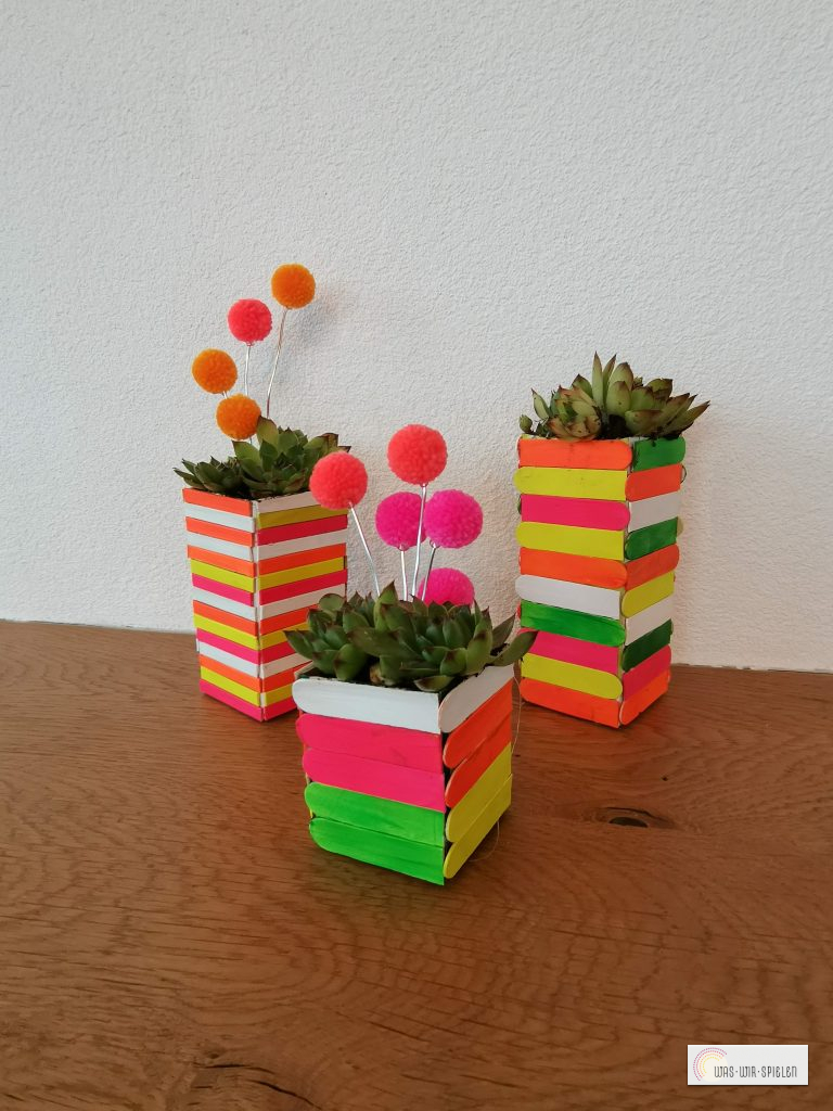 Unsere upcycling Blumentöpfe