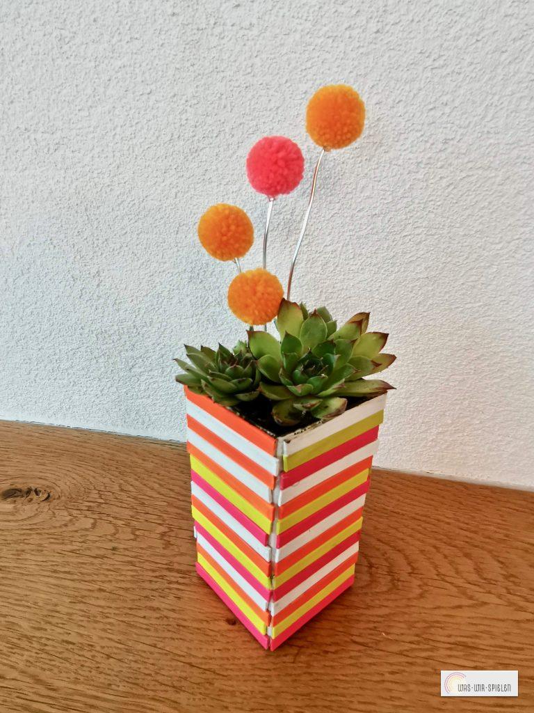 Unser fertiger Blumentopf