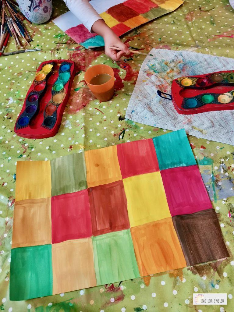 Malen in den Farben des Herbstes