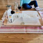 Schneemänner zum Training der Feinmotorik
