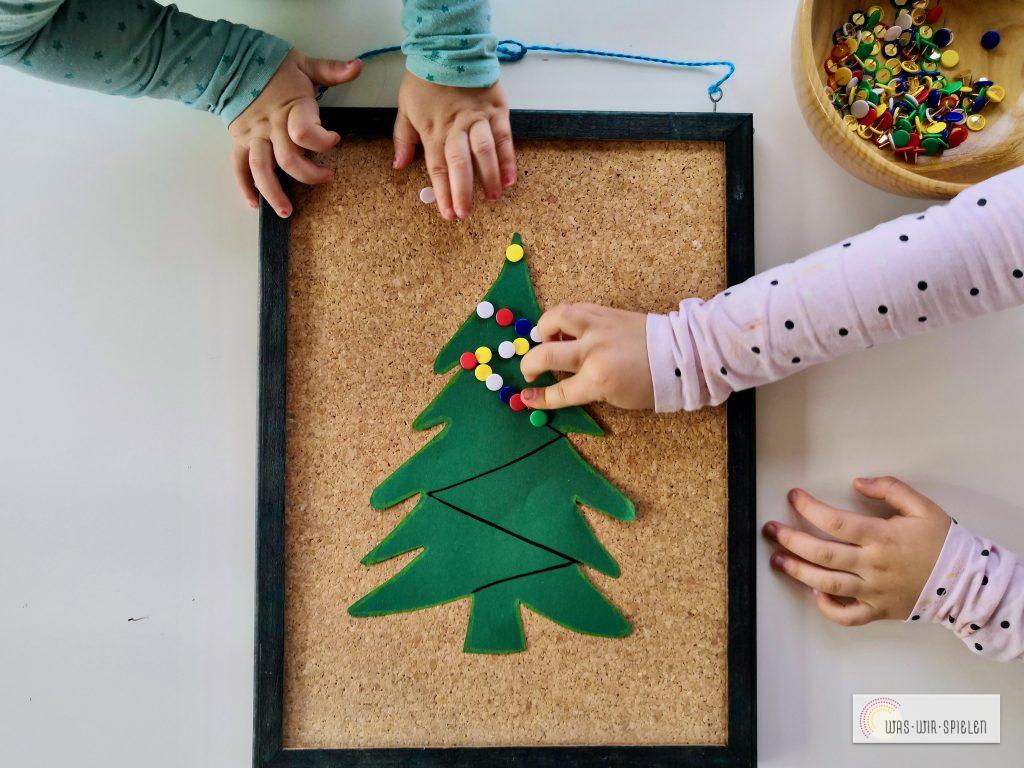 Weihnachtsbaum pinnen