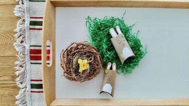 Osterhase aus Klopapierrollen – Oster – Mitbringsel