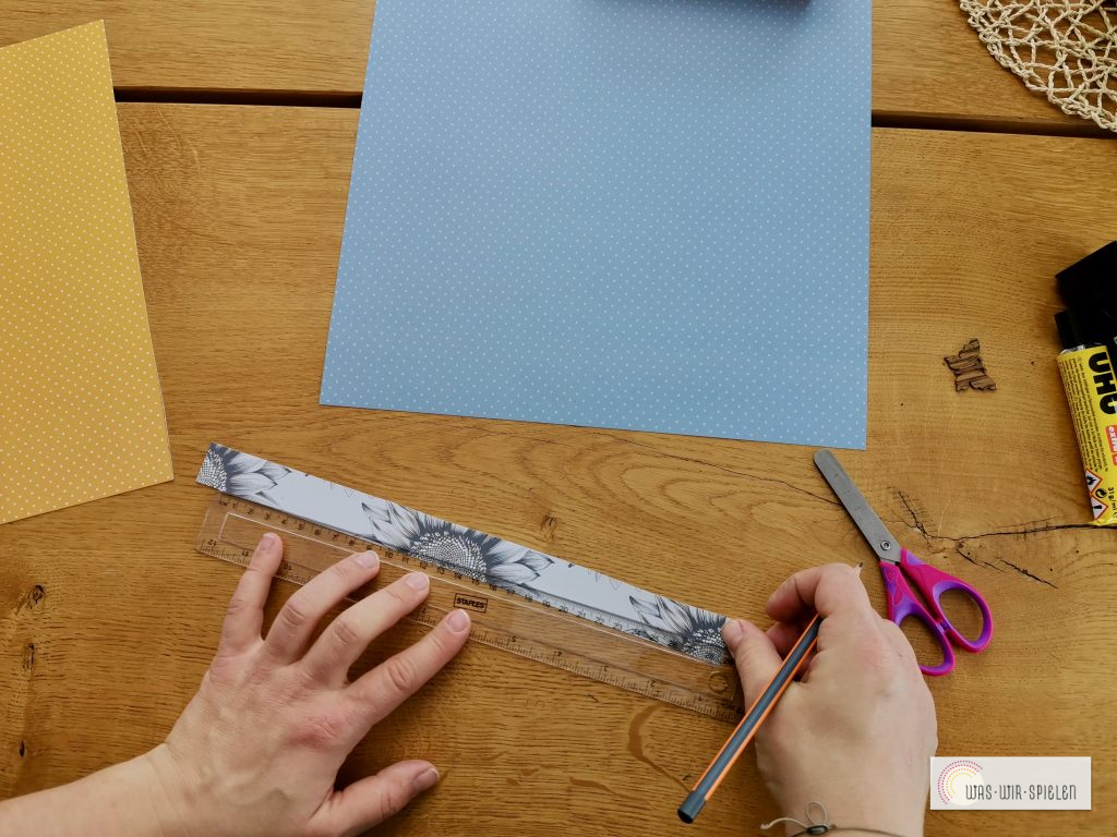 Papierstreifen vorbereiten