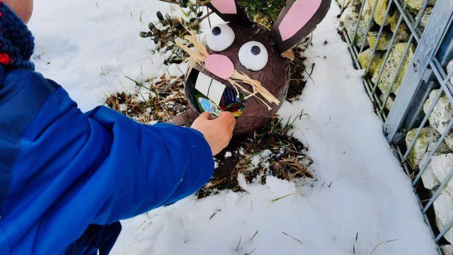 Hasen – Osternest aus Pappmache basteln