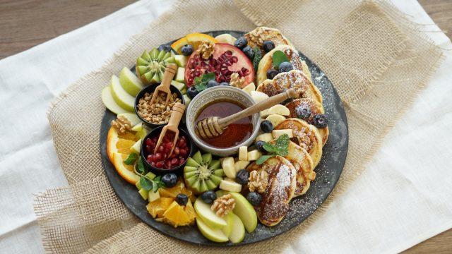 Fluffig, einfache Pancakes