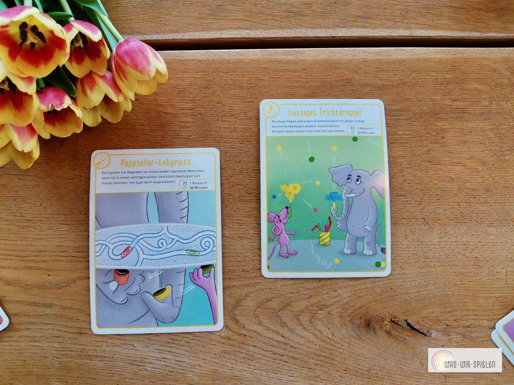 Beispiele - Pappteller - Labyrinth und Lustiges Trichterspiel