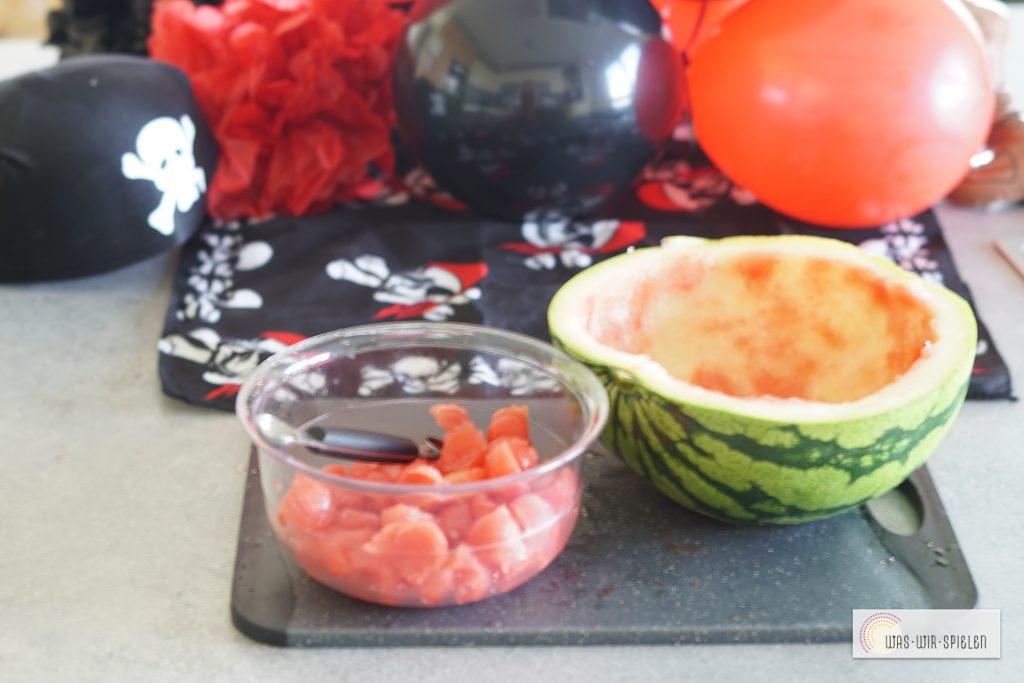 Melone ausgestochen