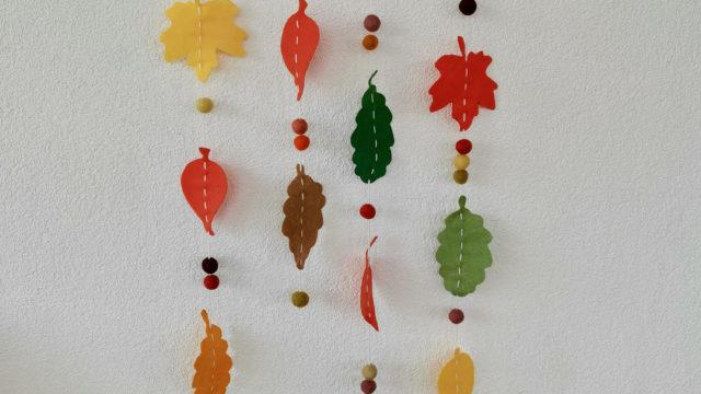 Filz DIY – Herbstliches Mobile aus Blättern
