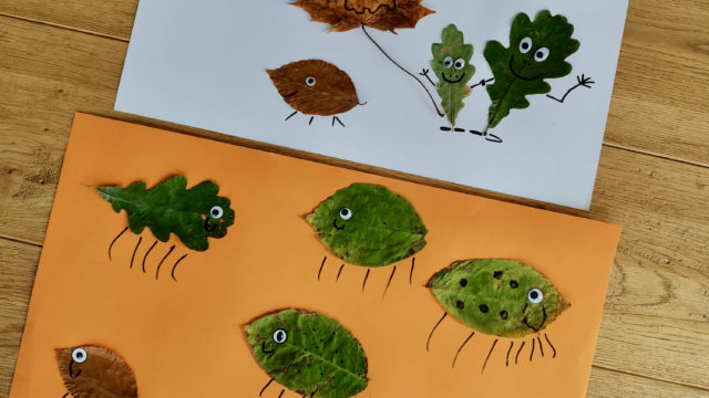 Kinderleichte Herbstbastelleien – 3 kunterbunte Ideen