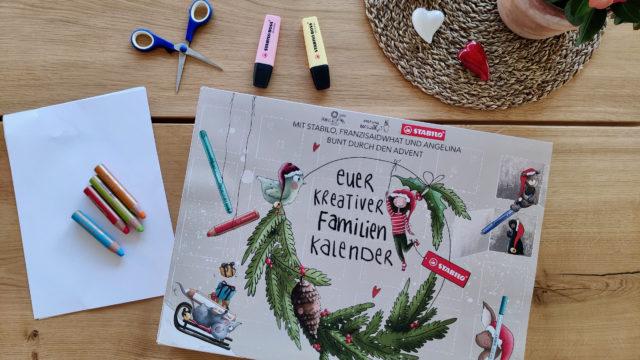 Ein bunter entspannter Advent mit dem kreativen Familienkalender von STABILO