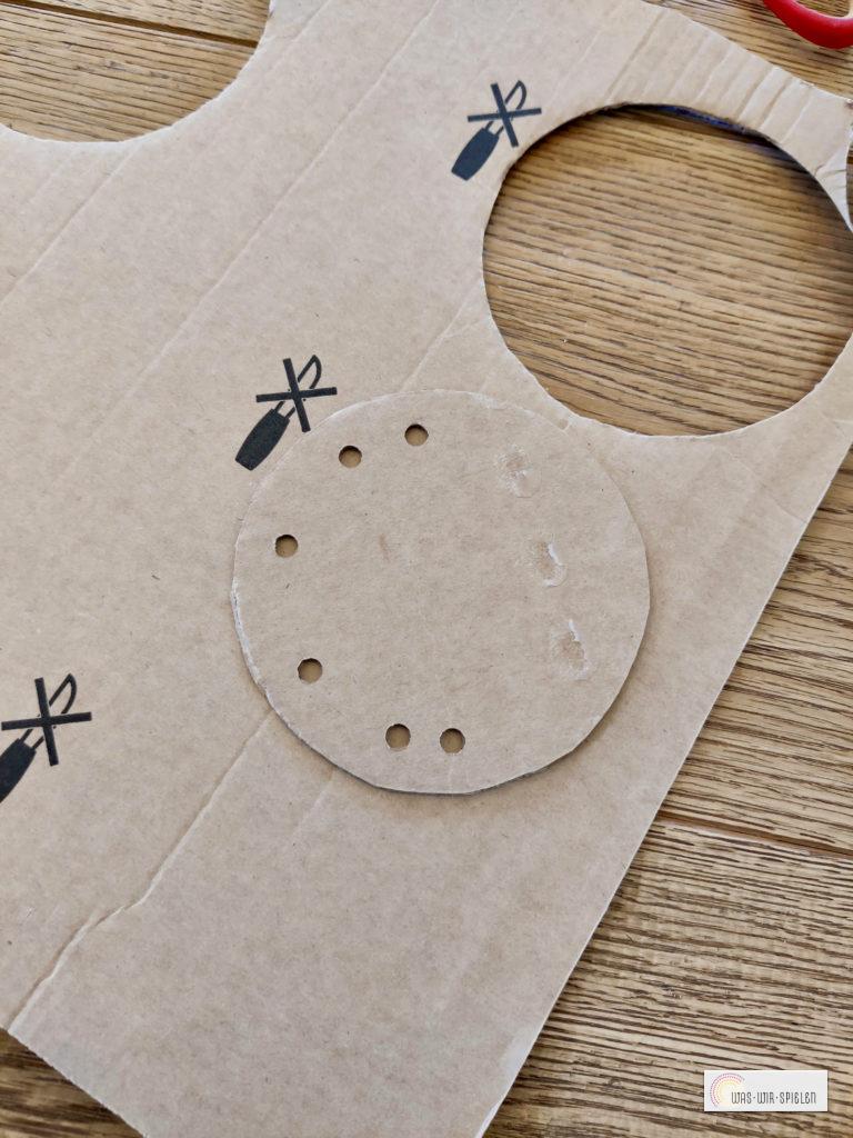 Kreise aus Pappe ausschneiden